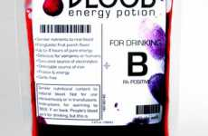 Synthetic Blood Beverages - Vampire Energy Drinks Have Juice in Transfusion Bags