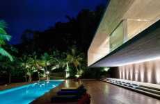 Hillside Party Mansions - The Marcio Kogan Paraty House is the Perfect Abode for a Bash
