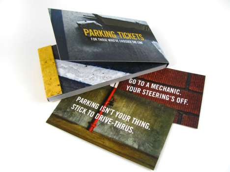 Rude Parking Notes - Novelty Parking Tickets Call People Lousy Drivers
