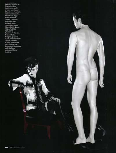 Manequine Model Muses - The Elle Italia Baptiste Giabico Editorial Leaves the Model Looking like Ken