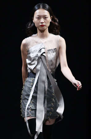 Crystalized Ribbon Dresses - The Shanghai Tang 'Kaleidoscope' Collection Sparkles