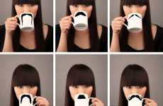 Facial Hair Tablewares - The Moustache Mug Makes Coffee Drinking Slightly More Amusing