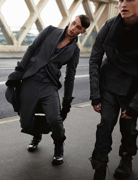 Unsteady Fashiontography - 'Off Balance' by Serge Leblon for AnOther Man Shows Models With Vertigo