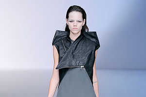 Black & White Folding Fashions at Rick Owens Spring 2010 Show