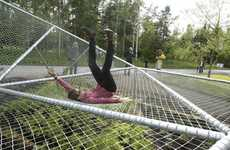 Trampolinesque Garden Structures - Dymaxion Sleep Brings Naptime to the Garden Festival
