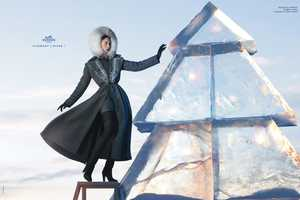 Raquel Zimmermann at the Ice Hotel for Hermes Fall/Winter 2009 (UPDATE)