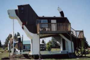 Sleep Inside a Giant Beagle at the Dog Bark Park Inn