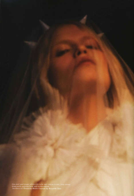 Demonic Photo Shoots - Natasha Poly Channels a Corpse Bride for 'Obsession' in Muse Magazine