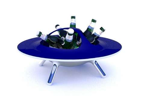 Intergalactic Booze Chillers - Alien Beer Cooler is a Spacey Design Dream