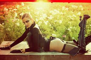 Model Eniko Mihalik in Numero 107 Sizzles in the Sun