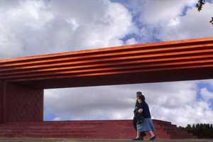 The Pedro Almodovar Monument in La Mancha, Spain