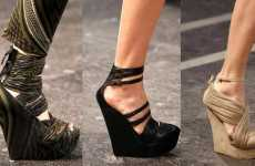 Skyscraping Wedges - Givenchy's Spring Runway Show Featured Statuesque Footwear
