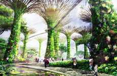 Eden-Esque Solar Gardens - The Marina South Gardens Shelters With Solar Supertrees