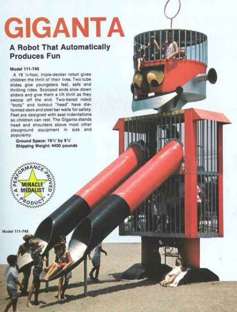 Dangerous Retro Playhouses - Playgrounds from the 70s are Modern Bad Ideas