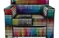 Psychedelic Seating - The Pantone Spectrum Digitally Printed Leather Chair by Sif Technology