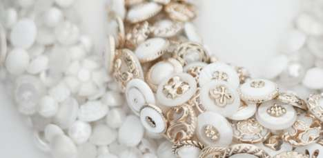 Buttoned Bauble Accessories - Kotsu Kotsu Buttons Together Beautiful Necklaces