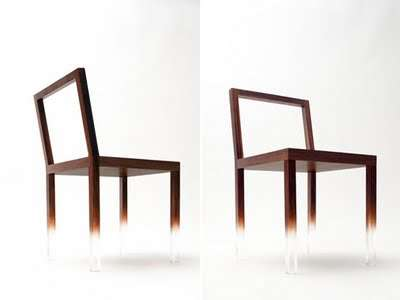 Illusionary Floating Chairs - The Fade-Out Chair by Nendo Plays Tricks on Our Eyes