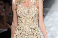 Translucent Mini Dresses - The Valentino Spring 2010 Collection Features Skimpy Transparent Clothes