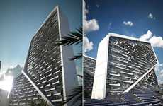 Solar Jigsaw Buildings - Aesthetics of the Vertical Village Could Potentially Cause Car Accidents