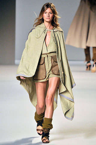 Khaki Caped Crusader Style - The Chloe Spring 2010 Collection Offers a Dust Bowl Palette
