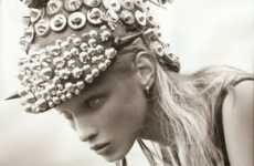 Helmet-Heavy Haute Couture - Model Anna Selezneva is an 'Eco-Warrior' in I-D