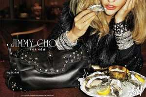 Oyster-Eating Models in the Jimmy Choo for H&M Ad Campaign