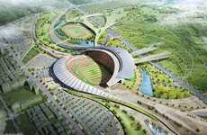 Spiraling Stadiums - Incheon Stadium Design for 2014 Asian Games by Populous