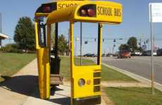 School Bus Shelters - Christopher Fennell and Doug Makemson Make Yellow Bus Stops