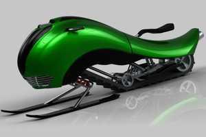 The Sperm-Like Snowmobile by Evangelos Gicas