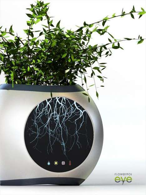 Root-Illuminating Flower Pots