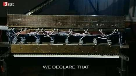 Possessed Pianos - This Musical Robot by Peter Ablinger Can Give Speeches