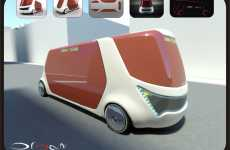 High-Tech Public Transport - The Organi Bus Lounge Makes Taking the Bus Stylish