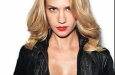 Transformed Starlet Shoots - January Jones Switches from Conservative Mom to Hot Rebel Chick for GQ