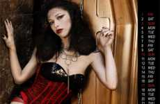 Hot Gothic Coffins - CofaniFuneburi's 2010 Calendar is Dramatically Dark