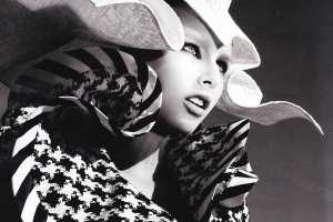 Fancy Hats in 'Moderne Magpie' for Vogue Germany