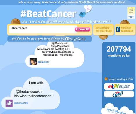 Collaborative Twitter Fundraising - PayPal, eBay & MillerCoors Step Up to #BeatCancer