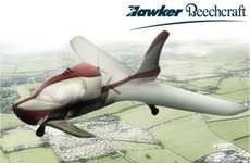 Car-Inspired Personal Aircraft - The Hawker Beechcraft Teams Up with Matthew Palmer