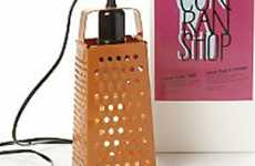 Cheese Grater Light Puts Unused Apparatus to Work