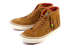 Native American Skate Shoes - Vans SK8-Hi Fringe Pack Mashes Moccasin with Sneakers