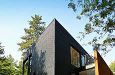 Glass Modern Homes - YH2 Geometric Architecture in the Canadian Laurentians