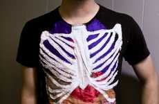 Human Anatomy T-Shirts - Patchwork Sewing Makes for Creative Clothing