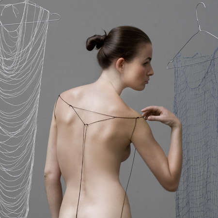 Extreme Minimalist Dresses - Digna Kosse Creates Unwearable Clothing from Pieces of Yarn