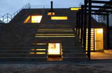 Stair-Covered Homes - The Japanese Beach-Side Stairs House by Y + M Design Office