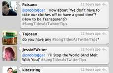 Lyrical Social Media Guides - #SongTitlesasTwitterTips Lampoons the Endless Stream of Twitter Tips