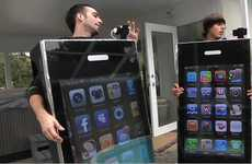 "Extreme Halloween Costumes - Reko Rivera and Bobby Hartman's iPhone Costumes Have 42"" TVs"