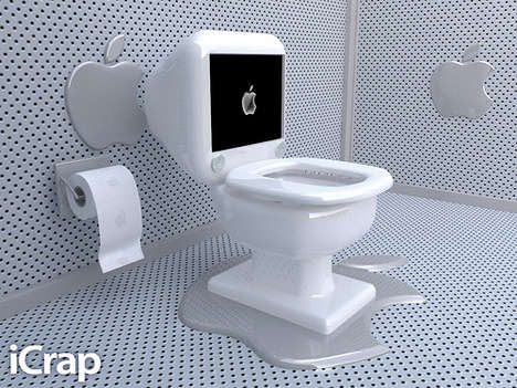Computer Branded Toilets - Bizarre Apple Concepts Designed by Mac Devotees