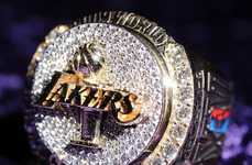 15K Basketball Bling - The Lakers Championship Rings are Huge