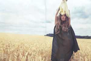 Daria Werbowy is the 'Girl of the Golden Field' in Vogue Nippon