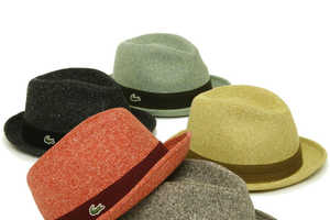 Colorful Lacoste Wool Mannish Hats are Super Sweet