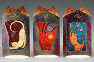 Bella Luz Studios's Illuminated Copper-Framed Art Panels